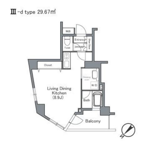 セントラルクリブ六本木Ⅰ / 1505 部屋画像1