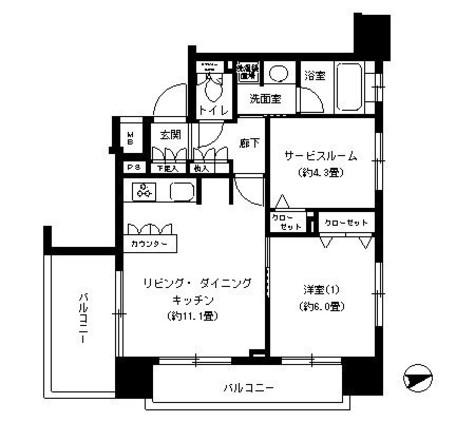 パークキューブ浅草田原町 / 9階 部屋画像1