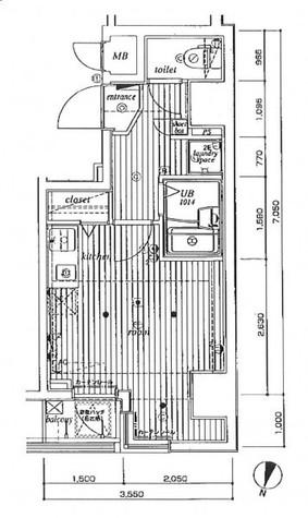 ミリオンプラザ目黒駅前 / 7階 部屋画像1