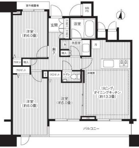 HF白金高輪レジデンス(旧ランドステージ白金高輪) / 602 部屋画像1