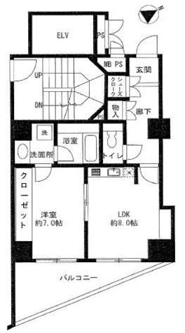 ユニーブル島津山 / 5階 部屋画像1
