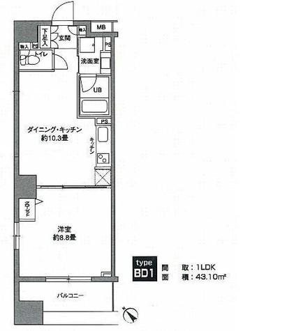 KWレジデンス新川 / 8階 部屋画像1