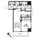 レフィール築地レジデンス / 4階 部屋画像1