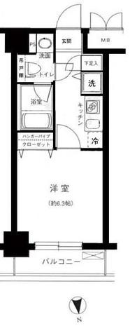 パレステュディオ御茶ノ水駿河台参番館 / 3階 部屋画像1