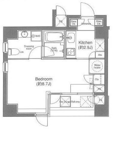 ルーチェ高輪 / 2階 部屋画像1
