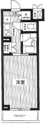 ルーブル笹塚弐番館 / 214 部屋画像1