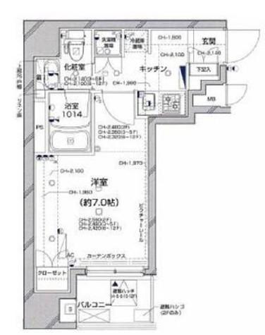グラーサ銀座EAST(グラーサ銀座イースト) / 7階 部屋画像1