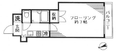 スカイコート芝壱番館 / 202 部屋画像1