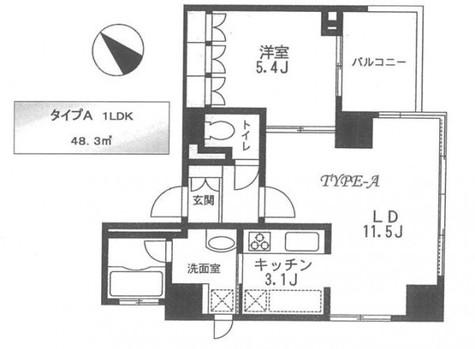 Park Side Kamiyama(パークサイドカミヤマ) / 3階 部屋画像1