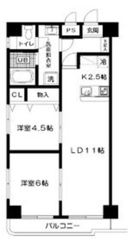 ヒルズ高輪B棟 / 2階 部屋画像1