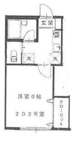 ヤマダハイツ / 202 部屋画像1