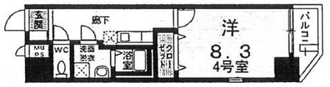 サピー豊洲 / 3階 部屋画像1