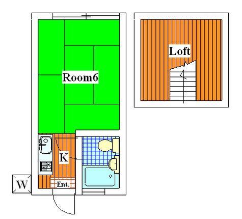 山崎ハイツ / 2階 部屋画像1