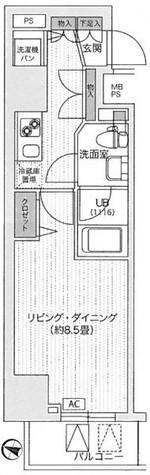 アンテニア東五反田 / 3階 部屋画像1