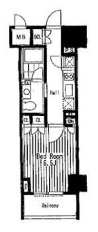 コンフォリア門前仲町(旧レーベレジデンス冬木) / 1303 部屋画像1