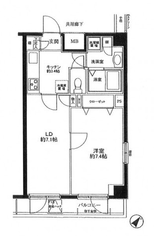 プレール日本橋三越前 / 12階 部屋画像1