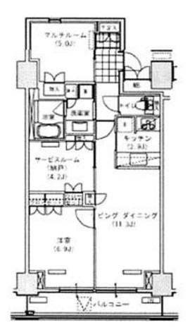 辰巳 11分マンション / 8階 部屋画像1