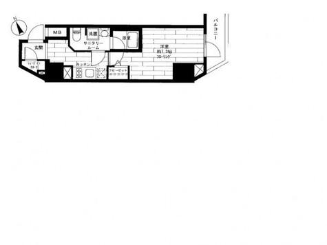 ステージファースト浅草橋 / 4階 部屋画像1