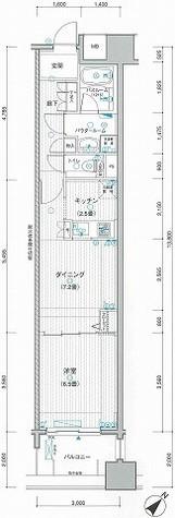 LA.PRYLE新横浜(エルエープライル新横浜) / 1020 部屋画像1