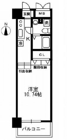 レジディア上野御徒町 / 1205 部屋画像1