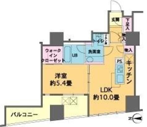 カスタリアタワー品川シーサイド / 15階 部屋画像1