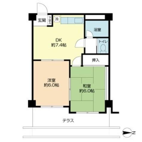 ライオンズマンション三春台 / 2階 部屋画像1