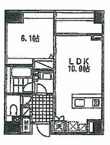 レフィナード蔵前 / 2階 部屋画像1