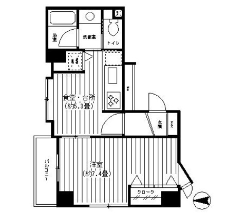 パークヒルズ武蔵小杉 / 2階 部屋画像1