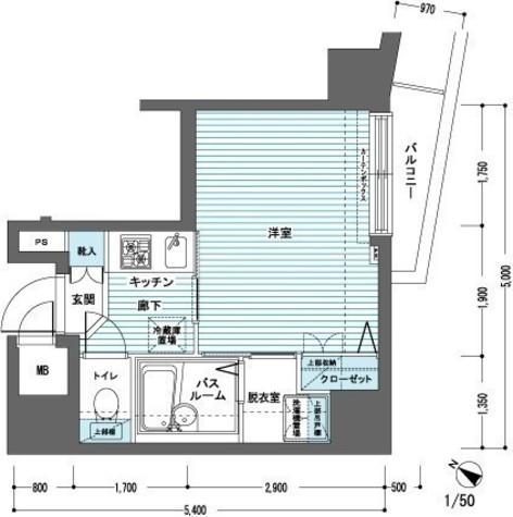 トーシンフェニックス日本橋蛎殻町弐番館 / 13階 部屋画像1