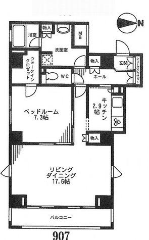 レジディア九段下 / 10階 部屋画像1