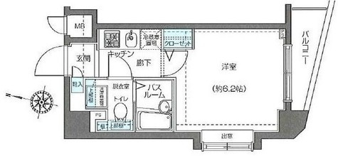 フェニックス西新宿弐番館 / 604 部屋画像1