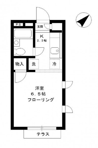 原宿コート / 1階 部屋画像1