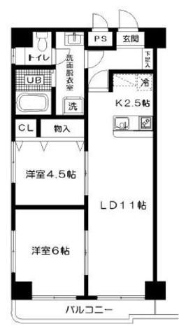 ヒルズ高輪B棟 / 402 部屋画像1