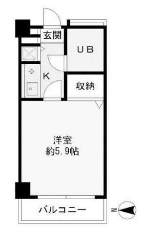 大井町タウンハウス / 4階 部屋画像1