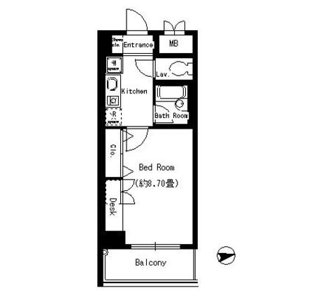 協和高輪マンション / 11階 部屋画像1