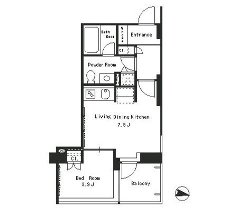 パークアクシス西麻布ステージ / 6階 部屋画像1