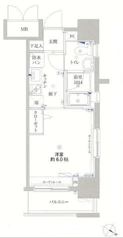 リクレイシア・コルテ川崎元木 / 10階 部屋画像1