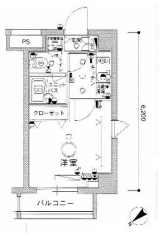 スカイコート茗荷谷壱番館 / 2階 部屋画像1