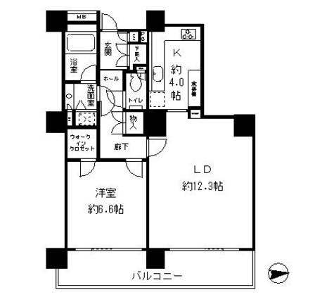 リバーポイントタワー / 15階 部屋画像1