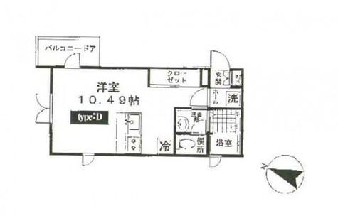 大岡山フローラ / 3階 部屋画像1