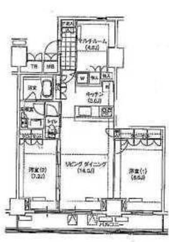 辰巳 11分マンション / 3階 部屋画像1