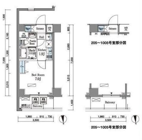 パークアクシス横浜井土ヶ谷 / 405 部屋画像1