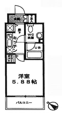 コンフォリア両国DEUX (旧名称ベルファース両国千歳) / 2階 部屋画像1