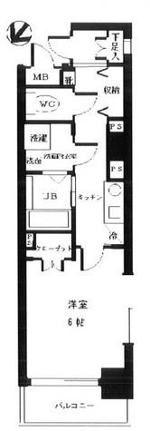 月島 1分マンション / 4階 部屋画像1