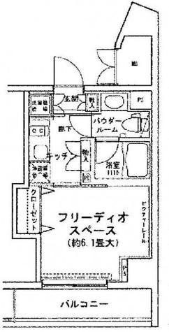 MG目黒駅前(旧:アイオス目黒駅前) / 3階 部屋画像1