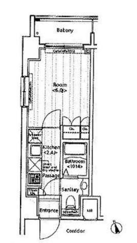 クイーンシティ新富町(ドゥーエ新富町) / 603 部屋画像1