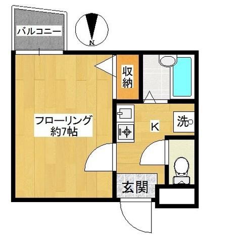バス・トイレ別で室内に洗濯機置場があります!