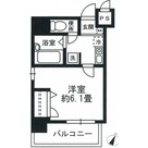 八丁堀 3分マンション / 6階 部屋画像1