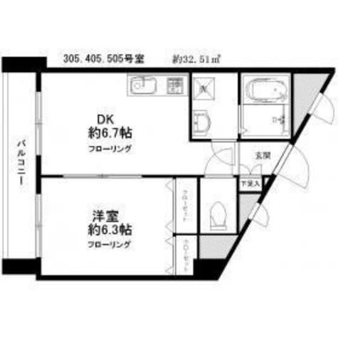 プレサージュ / 3階 部屋画像1