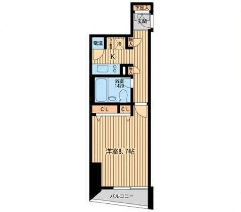 HF三田レジデンス(旧シングルレジデンス三田) / 603 部屋画像1